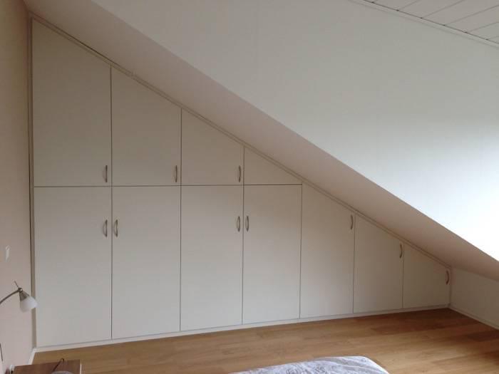 Einbauschränke weiß-lack – Dachschräge mit innen Schubladen ...
