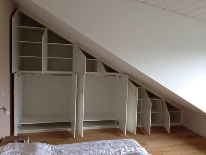 einbauschr nke wei lack dachschr ge mit innen. Black Bedroom Furniture Sets. Home Design Ideas