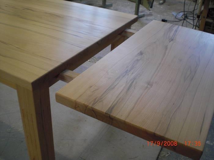 tisch in kernbuche mit ansteckplatten schreinerei rolf sch fer. Black Bedroom Furniture Sets. Home Design Ideas