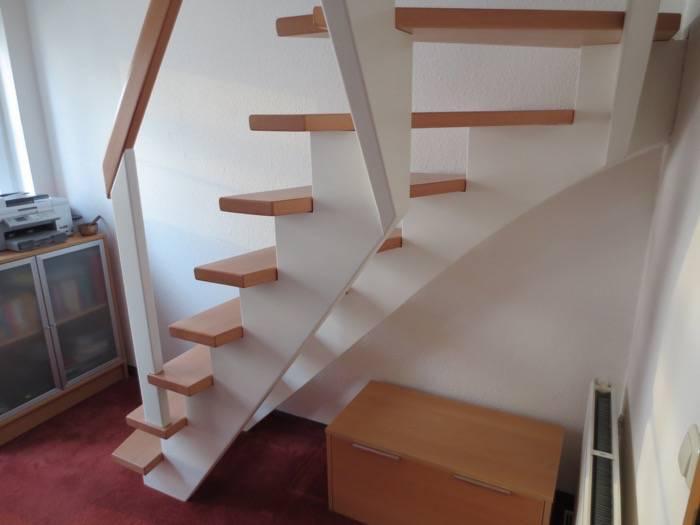 Treppen Ohne Geländer viertel gewendelt buche weiß lack geländer ohne stäbe