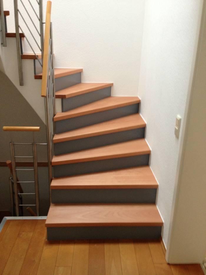 treppenrestaurierung stufen buche sto bretter grau. Black Bedroom Furniture Sets. Home Design Ideas