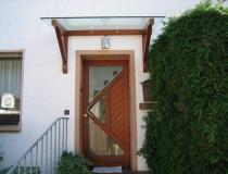 Glasdach mit Holzkonstruktion – freitragend