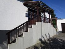 Treppengeländer + Vordach