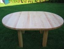 Tisch – Rund – Birke – ausziehbar mit Einlegeplatte – mit 4 Füßen