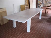 Tisch Eiche – weiß-geölt – mit Ansteckplatten