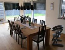 XXL  Massive Holz-Tisch = in massive euro. Eiche Natur = Oberfläche Hart-Wachs-Öl