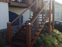 Außentreppe  Lärche+Bankirai